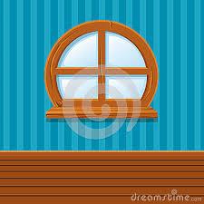 home interior vector wooden window home interior vector illustration