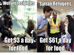 How To Get Welfare Meme - welfare recipients syrian refugees get 3 aday get 61 a day for food