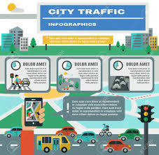 Map Symbols City Traffic Infographics Set With Cars Gps Map Symbols Vector