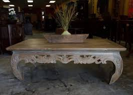 Bali Coffee Table Carved Reclaimed Teak Opium Coffee Table From Gadogado