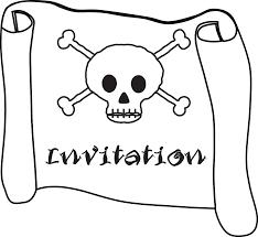free printable pirate skull crossbones invitations