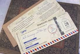 boarding pass wedding invitations air mail wedding invitation the back of the boarding pass