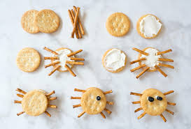 halloween goodies for toddlers easy spider crackers halloween snacks for kids la jolla mom
