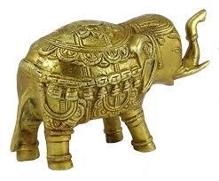 elephant figurine decorative animal golden sculpture table home elephant figurine decorative animal golden sculpture table home