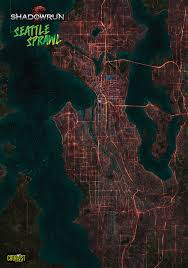 Seattle Map Downtown by Map Of Seattle In Shadowrun Cyberpunk Shadowrun Art Pinterest