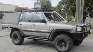 nissan patrol ute australia nissan patrol gu dual cab roof racks