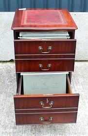 Retro Filing Cabinet Leather Filing Cabinet Creative File Cabinet Brown Mahogany File