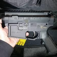 custom engraved clovis ink tattoo ar 15 upper ar15 guns u2026 flickr