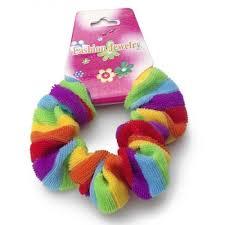 hair scrunchy rainbow fluffy hair scrunchy pony hair band lgbt and