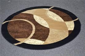 Contemporary Bathroom Rugs Contemporary Bathroom Style With Turkey Black Edge Round Shape