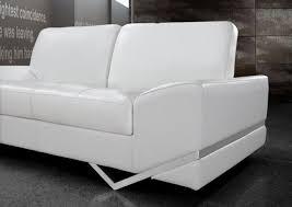 White Leather Sofas Sofa Fascinating Modern White Leather Sofa Convertible Sectional