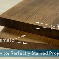 the simple not so secret trick to evenly stained woodworking