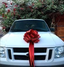 car bow ribbon big metallic bow christmas tree topper car gift store display
