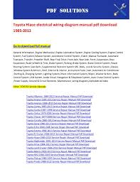 toyota hiace electrical wiring diagram manual pdf download 1985 2013