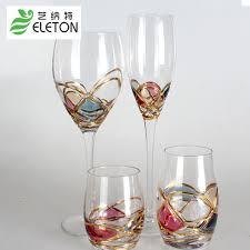 wedding gift glasses eleton colorful wine decanter glass chagne flutes glasses
