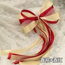 bow supplies 6pcs set custom simulation flowers ribbon garland wedding car