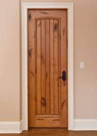 Solid Hardwood Interior Doors Interior Door Custom Single Solid Wood With Light Knotty