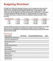 10 types of household budget worksheets free u0026 premium templates