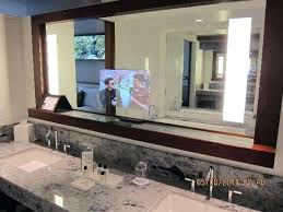 tv in the mirror bathroom bathroom tv mirror diy pkgny com