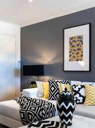 black yellow and white living room home decor design ideas