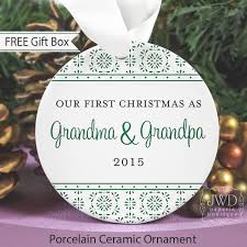 grandparent ornaments personalized new and gift new grandparent christmas