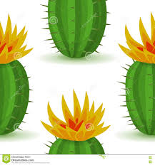 Cute Plant by Vector Cute Cactus With Flower Stock Vector Image 77430966