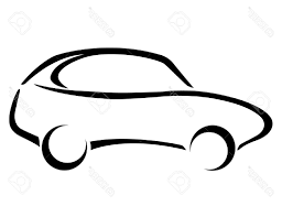 top 10 car silhouette on white background stock vector logo