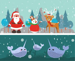 winter themes design and submarine decoration free