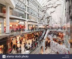 eaton centre largest shopping mall in downtown toronto of