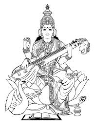 india saraswati 3 india u0026 bollywood coloring pages for adults