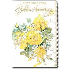 Greetings For 50th Wedding Anniversary Best Wishes On Your Golden Anniversary 50th Wedding Anniversary Card