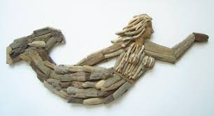 driftwood mermaid wall plaque wooden mermaid wall decor wooden