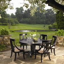 sturlyn round pedestal table u0026 five arm chairs set by kincaid