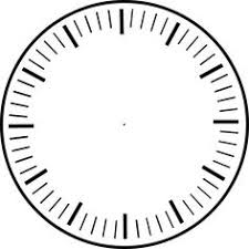 Printable Clock Template Without Numbers | printable clock without hands blank clockface with no hands or