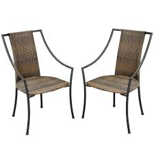 Patio Armchair Eucalyptus Outdoor Dining Chairs Patio Chairs The Home Depot
