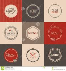 labels for restaurant menu design vector illustration stock
