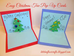 kitchen floor crafts easy christmas tree pop up cards