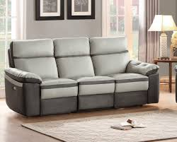 otto sofa homelegance otto two tone power reclining leather sofa in