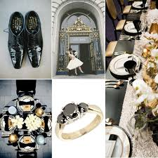 black and gold wedding ideas black white and gold wedding inspiration by linentablecloth