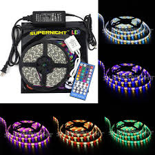 led color changing light strips supernight 16 4ft rgbww color changing 5050 300leds waterproof led