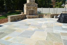 Interlocking Slate Patio Tiles by With A Gold Quartzite Flagstone Patio You Will Never Want To