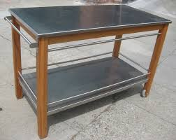 stainless steel portable kitchen island hickory wood black raised door stainless steel kitchen island cart