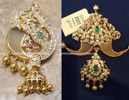latest designer puligoru pendants with close setting diamonds