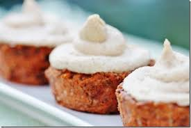 raw vegan carrot cake cupcakes with cream cheese frosting the
