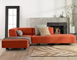 Orange Leather Sectional Sofa Sofa Beds Design Trend Of Modern Burnt Orange Sectional