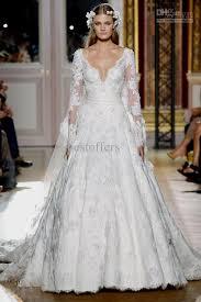 wedding dress lace sleeves off the shoulder naf dresses