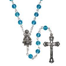 birthstone rosary creed ab birthstone rosary december blue zircon