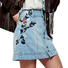summer skirts 2017 women denim skirt jeans short high waist mini