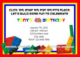 lego birthday party invitation wording cimvitation