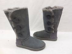 womens shearling boots size 11 ugg australia womens 5803 blue suede bailey button shearling boots